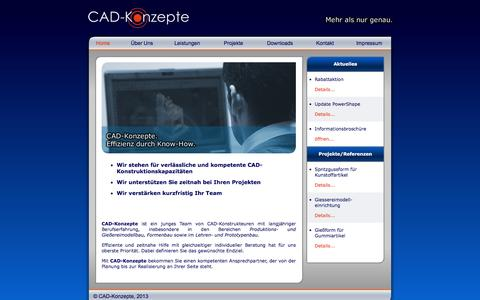 Screenshot of Home Page cad-konzepte.de - CAD-Konzepte - captured Jan. 23, 2016