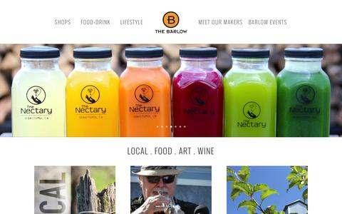 Screenshot of Home Page thebarlow.net - The Barlow | LOCAL. FOOD. ART. WINE. - captured Aug. 13, 2016
