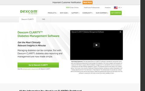 Dexcom CLARITY | Diabetes Management Software | Dexcom