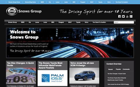 Screenshot of Press Page snowsgroup.co.uk - News | Snows Motor Group - captured Oct. 1, 2014