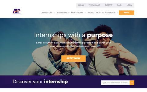 Screenshot of Home Page internsinasia.com - Asia Internship Program | Customized internships in Asia - captured Jan. 15, 2019