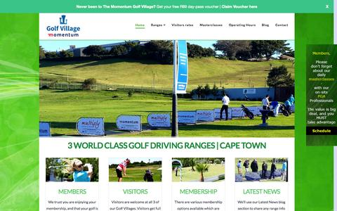 Screenshot of Home Page thegolfvillage.co.za - Momentum Golf Village | Golf Driving Ranges - Cape Town - captured Oct. 1, 2014
