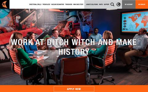Screenshot of Jobs Page ditchwitch.com - Careers | Ditch Witch - captured June 4, 2017