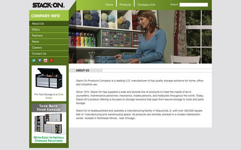 Screenshot of About Page stack-on.com - Stack-On | About Us - captured Sept. 23, 2014