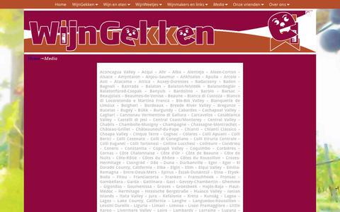Screenshot of Press Page wijngekken.nl - Media - WijnGekken - captured June 13, 2017