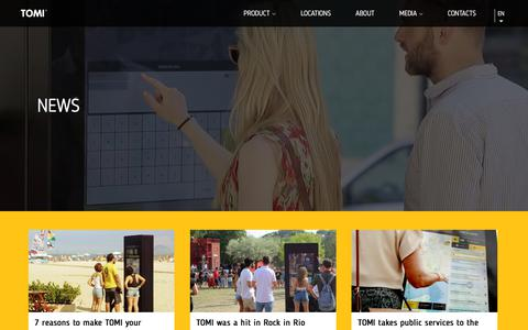 Screenshot of Press Page tomiworld.com - News Archive – TOMI WORLD - captured Sept. 21, 2018