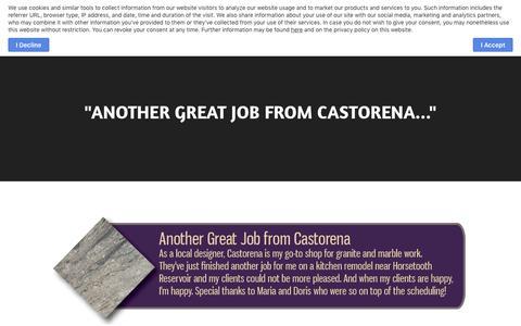 Screenshot of Testimonials Page castorenamarble.com - Testimonials  - Castorena Marble and Granite in Fort Collins, Colorado - captured Nov. 21, 2018