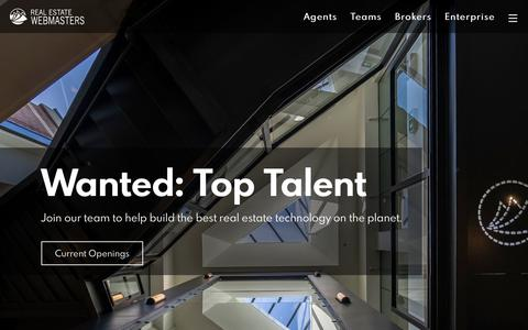 Screenshot of Jobs Page realestatewebmasters.com - Careers at Real Estate Webmasters | Hiring Top Talent - captured July 26, 2019