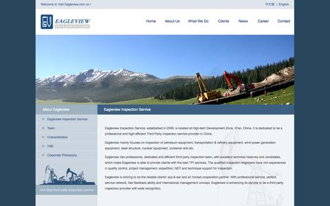 Screenshot of About Page eagleview.com.cn - Eagleview Inspection Service-Eagleview--Third Party Inspection Service Provider in China - captured Oct. 1, 2014