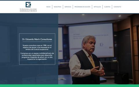 Screenshot of Home Page doctormarin.org - Consultora Salud Ocupacional | Chile | Dr. Eduardo Marín Consultores - captured Oct. 9, 2018