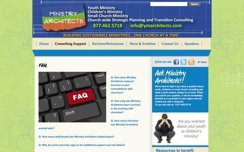Screenshot of FAQ Page ministryarchitects.com - FAQ | - captured Oct. 7, 2014