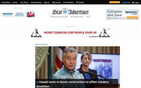 Screenshot of Press Page staradvertiser.com - Local News   Honolulu Star-Advertiser - captured Jan. 12, 2020