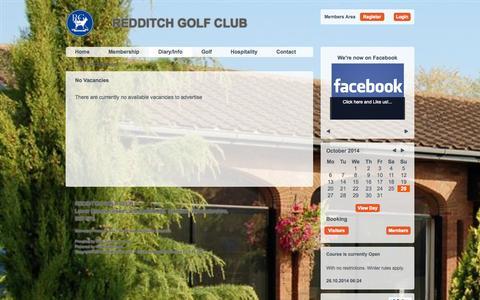 Screenshot of Jobs Page redditchgolfclub.com - REDDITCH GOLF CLUB - captured Oct. 26, 2014