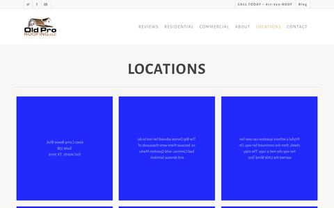 Screenshot of Locations Page oldproroofing.com - Locations | Old Pro Roofing - captured Sept. 23, 2019