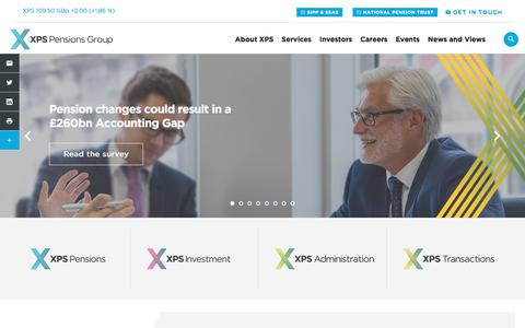Screenshot of Home Page Site Map Page xpsgroup.com - Home | XPS Pensions Group - captured July 19, 2019