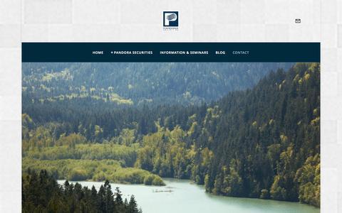 Screenshot of Contact Page pandora.net.au - Contact — Business Leadership, Management & Equity | Pandora Securities - captured Nov. 1, 2014