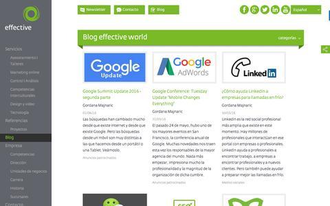 Screenshot of Blog effective-world.com - Blog effective world - grupo effective world  | effective world Group - captured Nov. 16, 2016