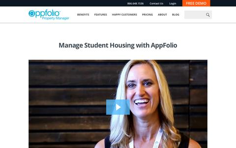 Screenshot of Case Studies Page appfolio.com - AppFolio Video Case Study for Wyse Properties - captured May 10, 2017