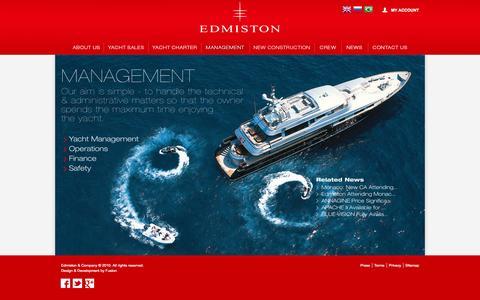Screenshot of Team Page edmiston.com - Yacht Management by Edmiston & Company - captured Sept. 23, 2014