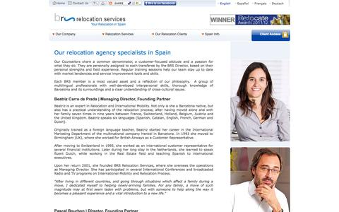 Screenshot of Team Page brs-relocation.com - Relocation agency specialists in Spain - captured Oct. 4, 2014