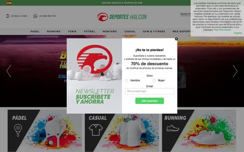 Screenshot of Home Page deporteshalcon.net - Tienda de deportes online en Madrid - Deportes Halcón - captured March 3, 2018