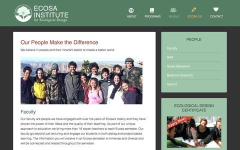 Screenshot of Team Page ecosa.org - People - Ecosa Institute for Ecological Design - captured Jan. 25, 2016