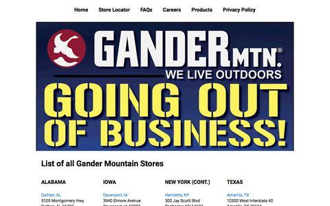Store List | Gander Outdoors
