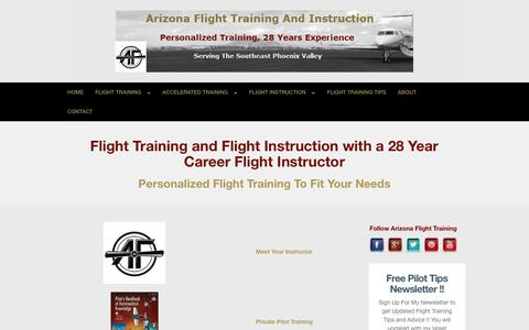 Screenshot of Home Page arizona-flight-training-and-instruction.com - Arizona Flight Training and Flight Instruction — Flight Training Arizona - captured Feb. 1, 2018