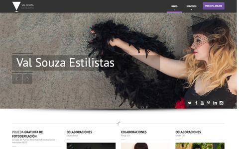 Screenshot of Home Page valsouzaestilistas.com - Val Souza Estilistas | Tu Peluquería Unisex y Centro Estética Profesional en Lavapiés - captured Oct. 9, 2014