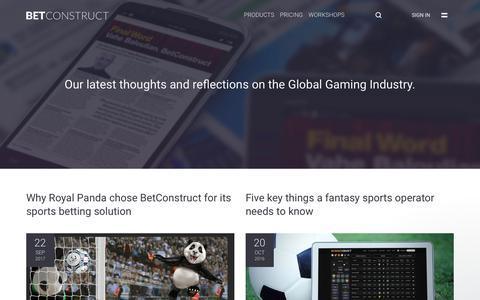 Screenshot of Blog betconstruct.com - Jonathan says… - captured Oct. 25, 2017