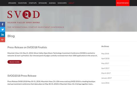 Screenshot of Blog svod.org - Blog | SVOD - Silicon Valley Open Doors - captured Oct. 1, 2018