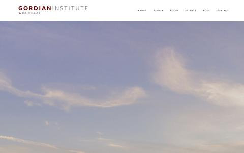 Screenshot of Case Studies Page gordianinstitute.com - Case Studies — Gordian Institute - captured Sept. 30, 2014
