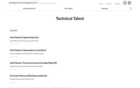 technical talent – Andreessen Horowitz