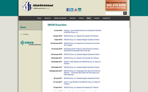 Screenshot of Press Page altairstrickland.com - Industrial Engineering Company & FCCU :: AltairStrickland - captured July 29, 2018