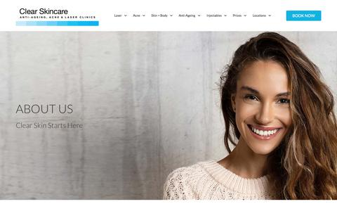 Screenshot of About Page clearskincareclinics.com.au - About Us - Learn The Humble Beginnings Of Clear Skincare Clinics - captured Oct. 11, 2019