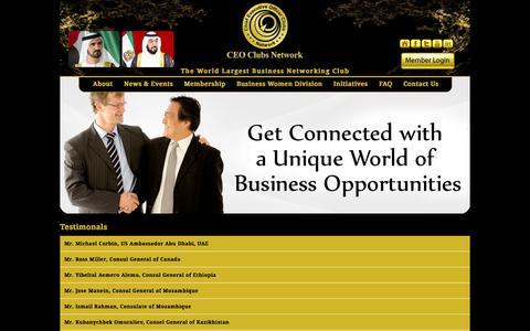 Screenshot of Testimonials Page ceoclubsuae.com - Testimonials : CEO Clubs Network - captured Oct. 1, 2014