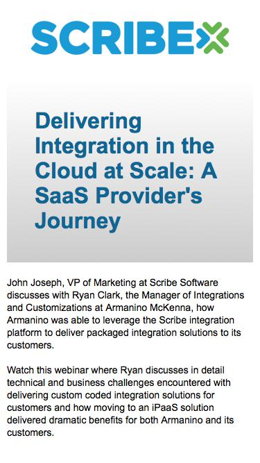 Delivering Integration in the Cloud at Scale: A SaaS Provider's Journey
