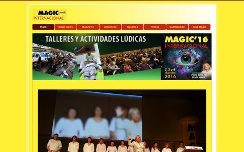 Screenshot of Home Page magicinternacional.com - Magic Internacional - captured Jan. 28, 2017