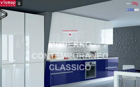 Screenshot of Home Page vismap.it - Vismap Cucine - Cucine Moderne Contemporanee e Classiche Componibili - captured Oct. 7, 2014