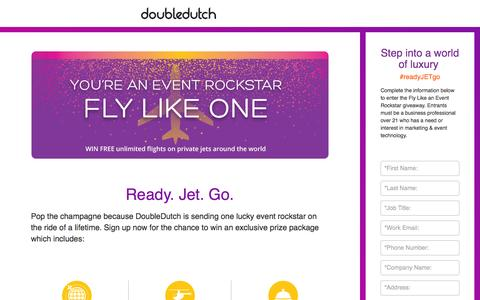 Screenshot of Landing Page doubledutch.me - Mobile Apps for Events and Conferences by DoubleDutch - captured Aug. 18, 2016