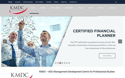 Screenshot of Home Page kmdc.com.my - KMDC - KDU Management Development Centre for Professional Studies - captured Oct. 16, 2017