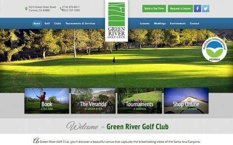 Screenshot of Home Page playgreenriver.com - Green River Golf Club - Corona, CA - captured Sept. 17, 2015