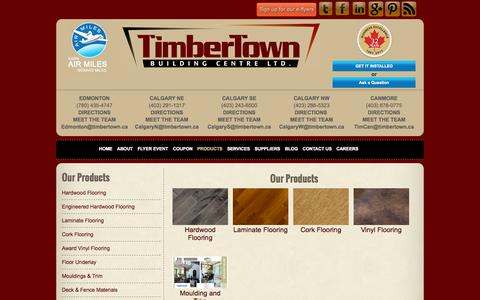 Screenshot of Products Page timbertown.ca - TimbertownProducts | Timbertown - Laminate Flooring - captured Sept. 30, 2014