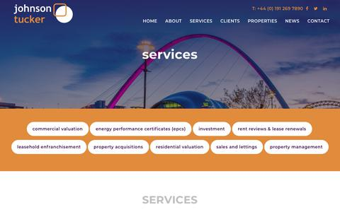 Screenshot of Services Page johnsontucker.co.uk - Services | Johnson Tucker - captured Oct. 14, 2018