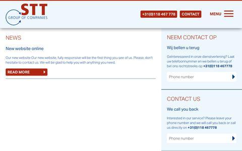Screenshot of Press Page agency-stt.com - News - STT Group of companies - captured Dec. 16, 2018
