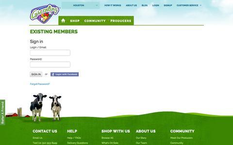 Screenshot of Login Page greenling.com - Sign In - Greenling - captured Sept. 16, 2014