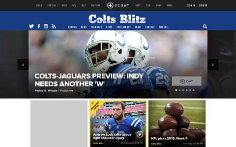 Screenshot of scout.com - Indianapolis Colts NFL Football Front Page - captured Oct. 3, 2015