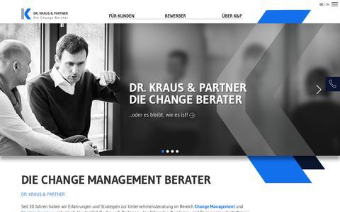 Screenshot of Home Page kraus-und-partner.de - Change Management Unternehmensberatung  Dr. Kraus & Partner - captured Oct. 12, 2017