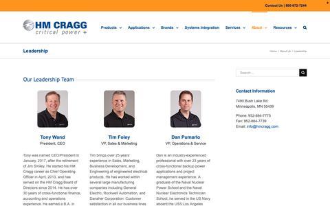 Screenshot of Team Page hmcragg.com - Leadership, Minneapolis MN | HM Cragg - captured Nov. 4, 2018