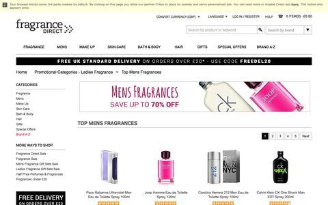 Best Selling Mens Fragrance, Aftershave for Men | Fragrance Direct